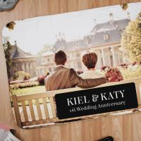 Personalised 1st Anniversary Photo Blanket