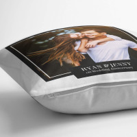 personalised 1st Wedding Anniversary Photo Cushion