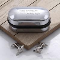 personalised 21 Cufflinks Gift Set