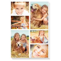 "personalised 24x16"" Collage Photo Canvas"