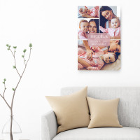 """24x16"""" personalised New Baby Collage Canvas"""