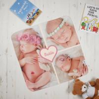 Girls Heart Photo Blanket
