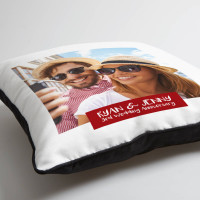 personalised 3rd anniversary photo cushion