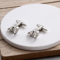 personalised Rhodium Plated 40 Cufflinks Gift Set
