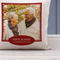 personalised 40th Wedding Anniversary Photo Cushion