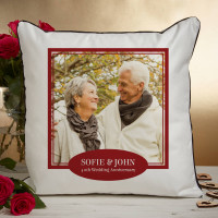 personalised 40th anniversary photo cushion
