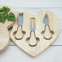 personalised 'All You Need is Love' Heart Cheese Board