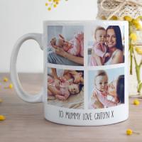personalised 4 Photo Collage Durham Mug