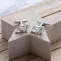 personalised 50 Cufflinks Gift Set