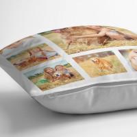 "Personalised 6 Photo Collage Cushion (White) 18x18"""