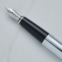 personalised Cross Calais Fountain Pen Chrome