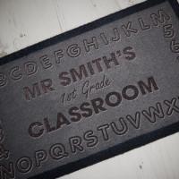 personalised ABC 123 Classroom Doormat