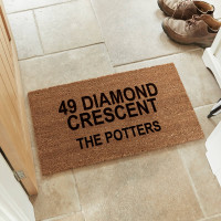 personalised address coir doormat