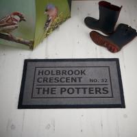 personalised address family doormat