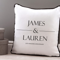 Personalised couples names piped cushion