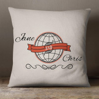 personalised His & Hers World Cotton Cushion