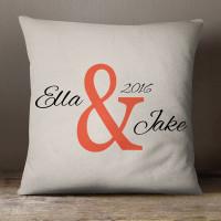 personalised Ampersand Cotton Cushion