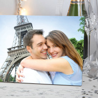 "Personalised Anniversary Freestanding Photo Block (8x11"")"