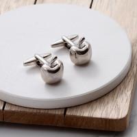 personalised Apple Cufflinks Gift Set