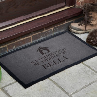 personalised dog approved doormat