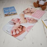 Baby Girl Info Blanket