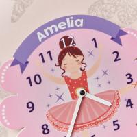 personalised Ballerina Pendulum Clock