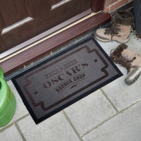 personalised Barbershop Doormat