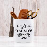 personalised Barbershop Shaving Pot