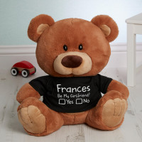 Personalised Be My Girlfriend Caramel Charlie Bear