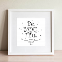 Personalised Be You Tiful Wall Art