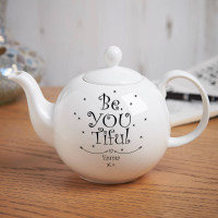 personalised Be You Tiful Pot Belly Teapot