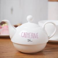 personalised Beau Tea Ful Tea For One Teapot