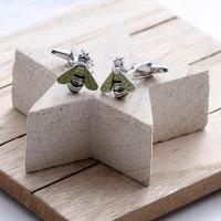 personalised bee cufflinks