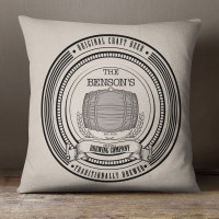 personalised Beer Label Cotton Cushion