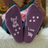 personalised best cat mum socks