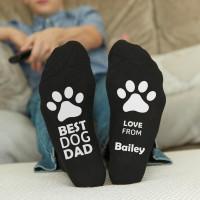 personalised best dog dad socks