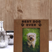 personalised best dog photo frame