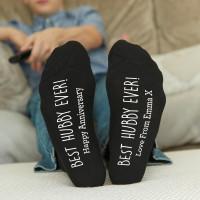 personalised best hubby socks