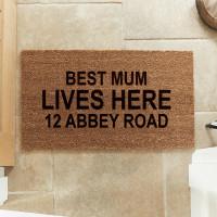personalised coir mat