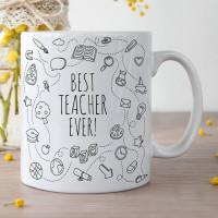 Personalised Best Teacher Ever Durham Mug