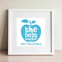 personalised Best Teacher Wall Art