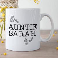 Personalised Awesome Auntie Photo Frame Durham Mug
