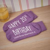 personalised birthday socks