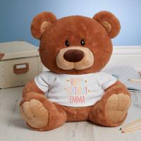 Personalised Birthday Bees Caramel Teddy Bear