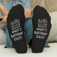 personalised birthday cake socks