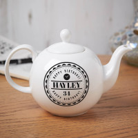 personalised Birthday Time Pot Belly Teapot