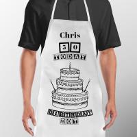 Personalised Birthday Cake Apron