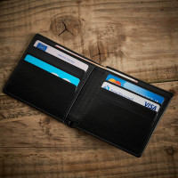 personalised initials wallet