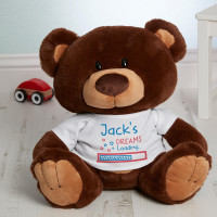 Personalised Boy Dreams Loading Chocolate Charlie Bear