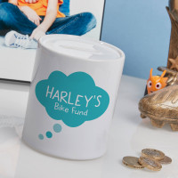 personalised Boys Dream Bubble Personalised Money Box